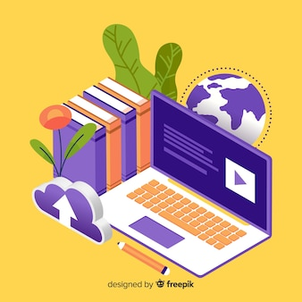 Isometrisch online onderwijsconcept