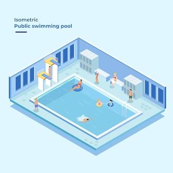 Isometrisch openbaar zwembad