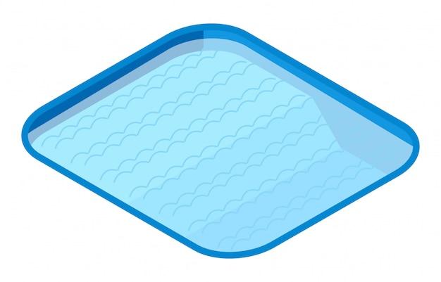 Isometrisch openlucht zwembad