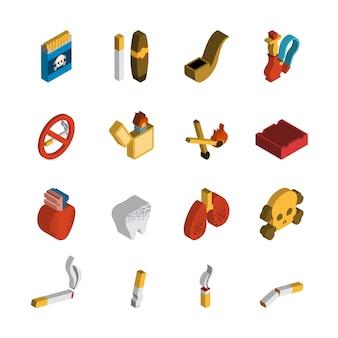 Isometrisch pictogram roken