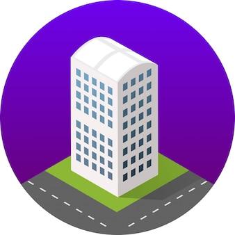 Isometrisch pictogram van een stad