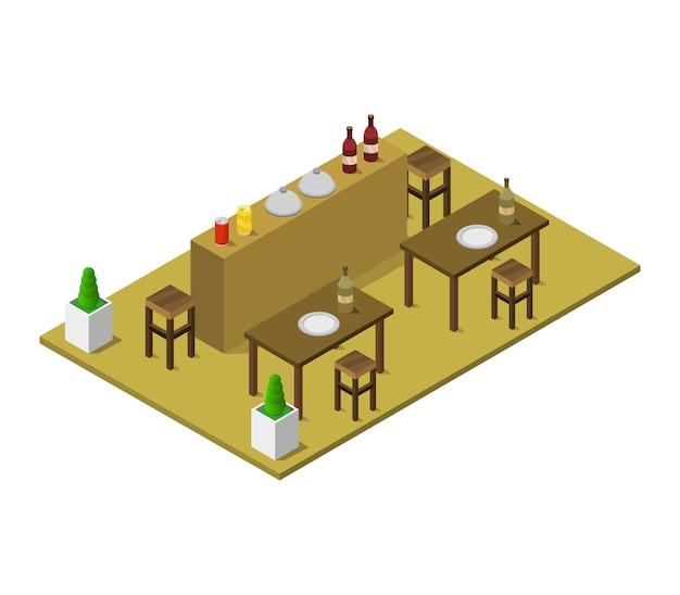 Isometrisch restaurant
