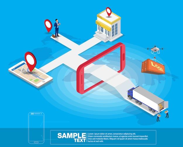 Isometrisch slim mobiel logistiek netwerk