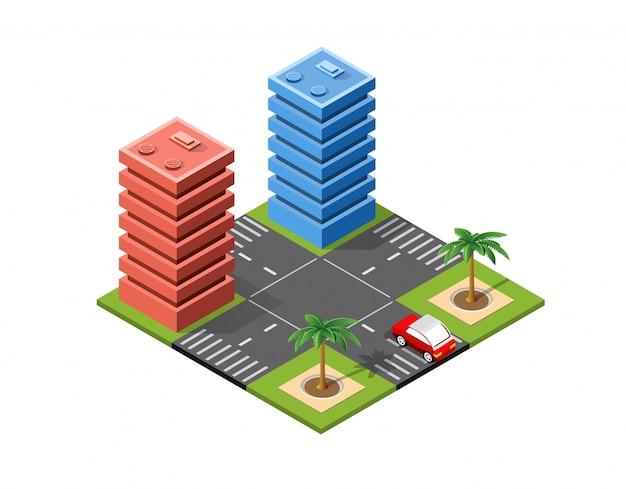 Isometrisch stadslandschap