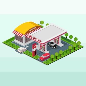 Isometrisch tankstation