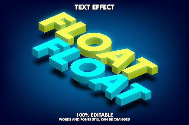 Isometrisch teksteffect bewerkbaar 3d-teksteffect met zacht licht en schaduw