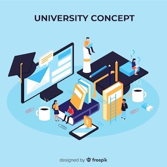 Isometrisch universitair concept met schoolelementen