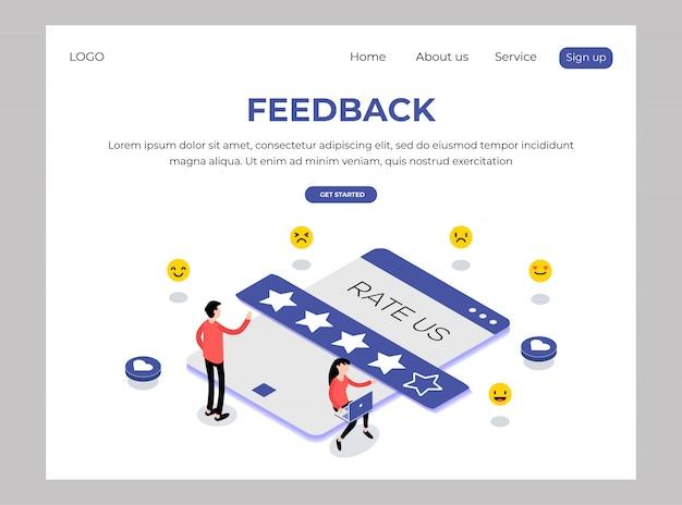 Isometrisch van feedback-websjabloon