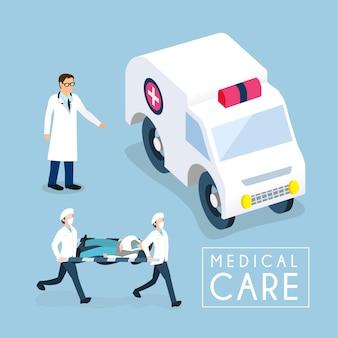 Isometrisch van medische zorgconcept