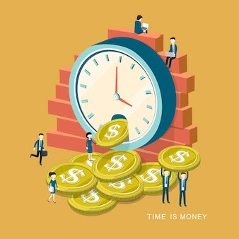 Isometrisch van tijd is geldconcept