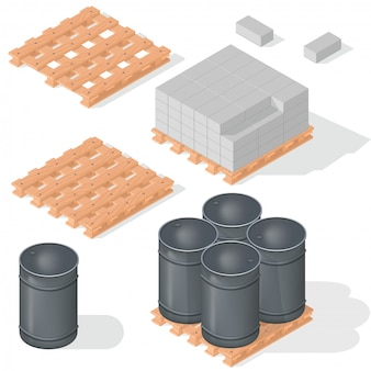 Isometrisch vaten betonblok