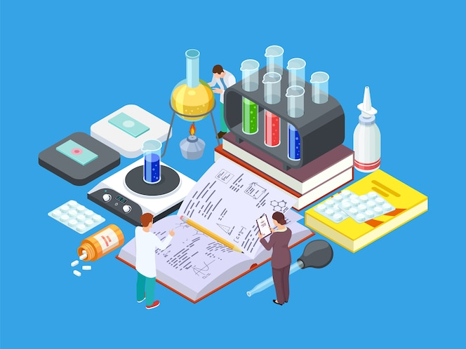 Isometrisch wetenschappelijk laboratorium