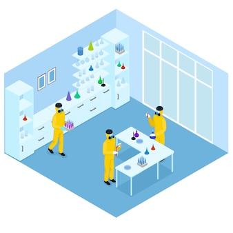 Isometrisch wetenschappelijk onderzoek concept