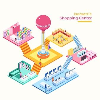 Isometrisch winkelcentrum concept