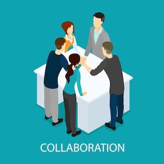 Isometrisch zakelijk partnerschap