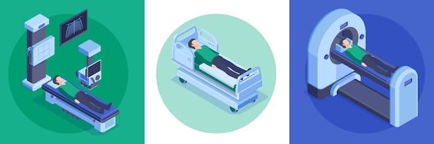 Isometrisch ziekenhuis ontwerpconcept