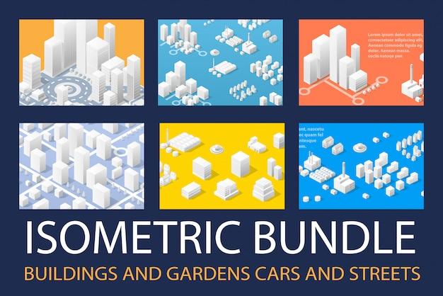 Isometrische 3d-reeks voor ontwerp