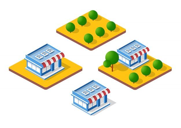 Isometrische 3d-winkel
