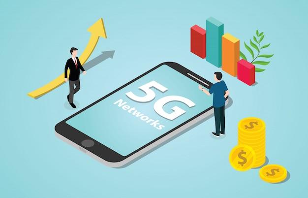 Isometrische 5g nieuwe internet snelheidsrevolutie netwerken