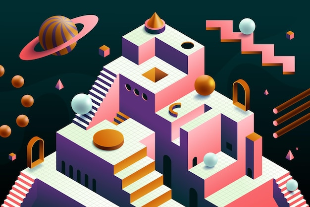 Isometrische abstracte achtergrond