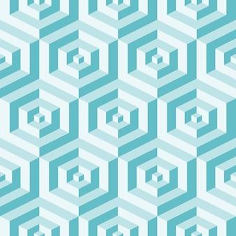 Isometrische achtergrond met kubussen. futuristisch geometrisch naadloos patroon. optische illusie van volume