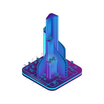 Isometrische afbeelding augmented reality voor architecten