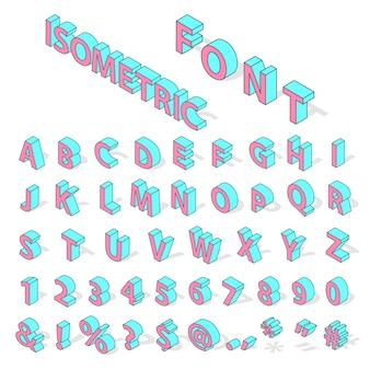 Isometrische alfabet lettertype