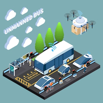 Isometrische autonome voertuigen parkeren