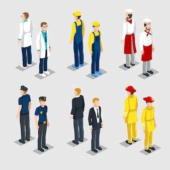 Isometrische beroepen collectie