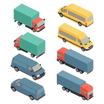 Isometrische bestelwagen, auto symbool