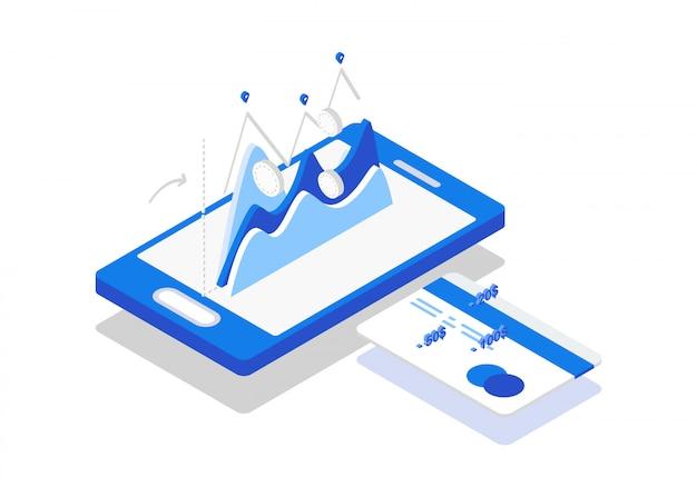 Isometrische betaling per kaart online telefoon