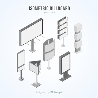 Isometrische billboard-collectie