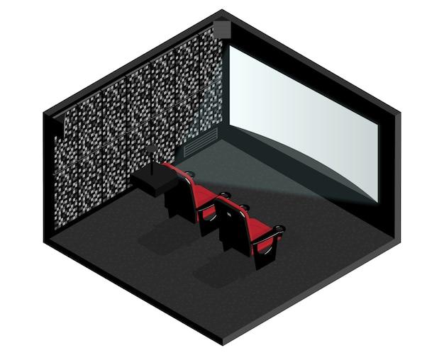 Isometrische bioscoopkamer