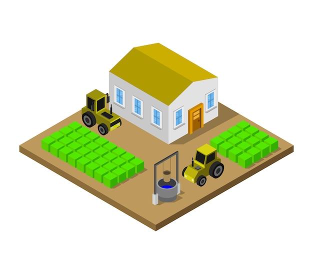 Isometrische boerderij