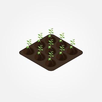 Isometrische boerderijelementen