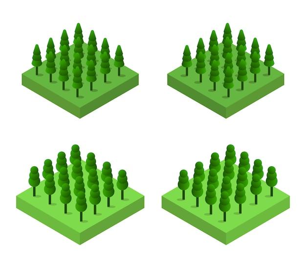 Isometrische bomen instellen