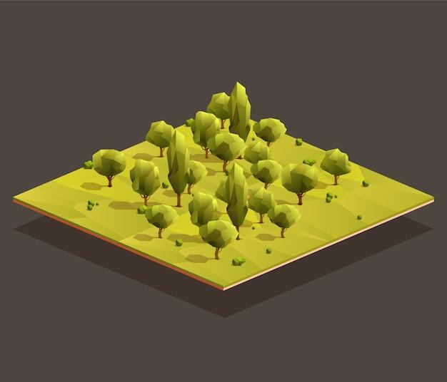 Isometrische bosgebied