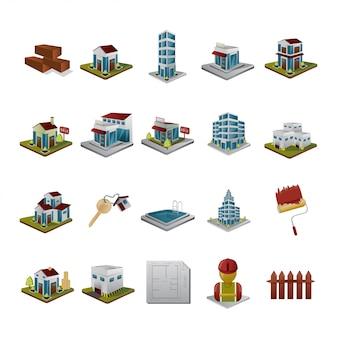 Isometrische bouw en bedrijf