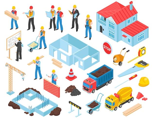 Isometrische bouwelementen instellen