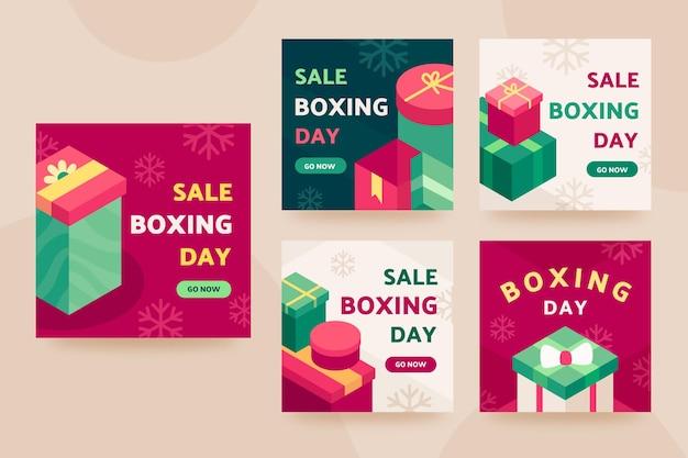 Isometrische boxing day sale instagram posts collectie