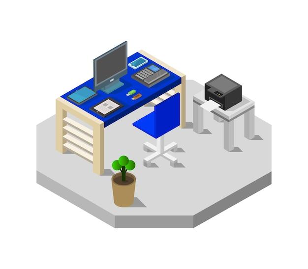 Isometrische bureau