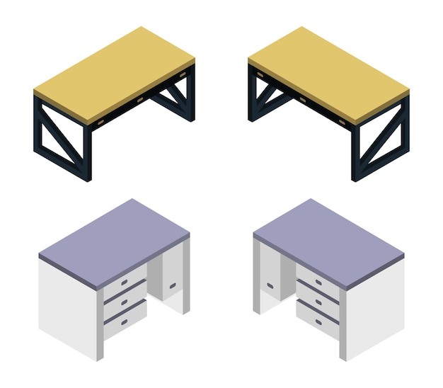 Isometrische bureauset