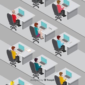 Isometrische call center ontwerp