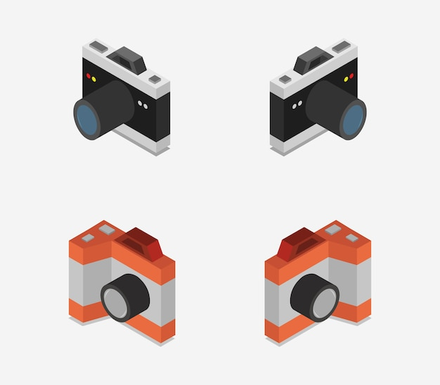 Isometrische camera-collectie