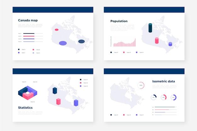 Isometrische canada kaart infographic