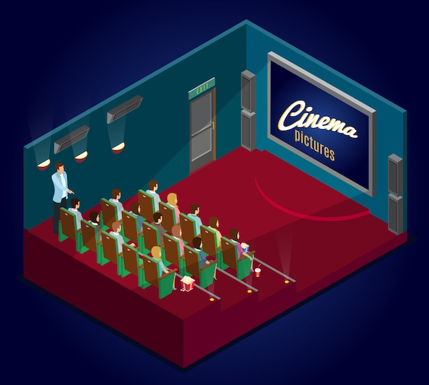 Isometrische cinematografie concept