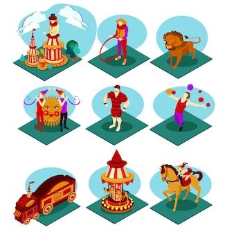 Isometrische circus set