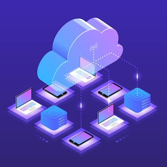 Isometrische cloud-technologie