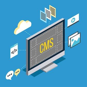 Isometrische cms-concept