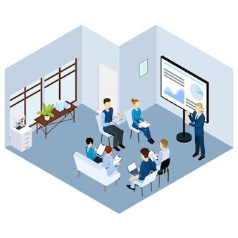 Isometrische coaching characters concept